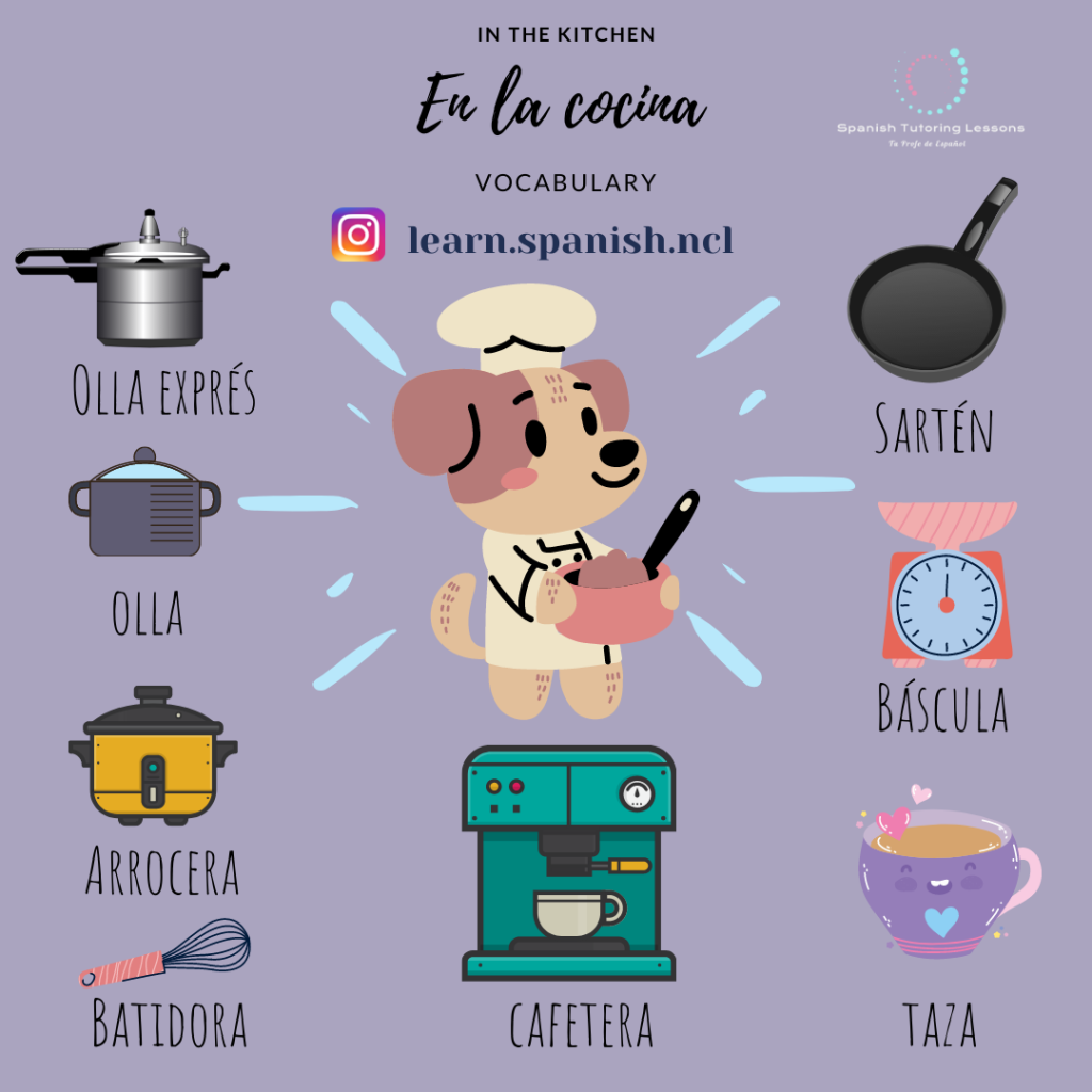 Learn Useful Vocabulary in Spanish Kitchen Utensils